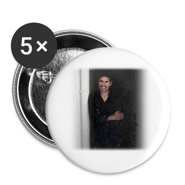 5 Pack Large Buttons - Neil Byrne Smile