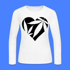 Marijuana Heart Long Sleeve Shirts - Women's Long Sleeve Jersey T-Shirt