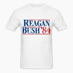 Distressed Reagan - Bush '84