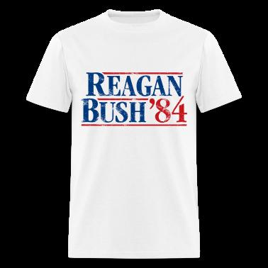 Distressed Reagan - Bush '84