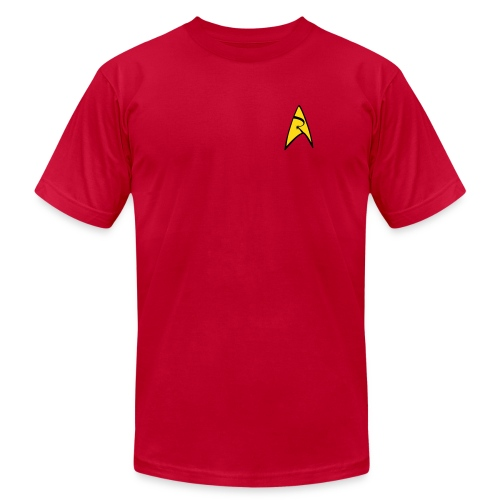 Mission Log Red Shirt - Men's T-Shirt by American Apparel