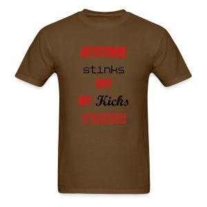 Attitude Stinks-Brown - Men's T-Shirt