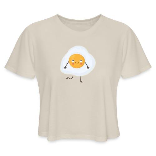 Eggscellent Flowy Crop  - Women's Cropped T-Shirt