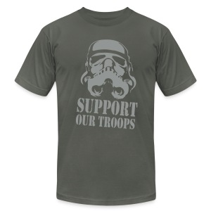 Support R' Troops - Men's T-Shirt by American Apparel