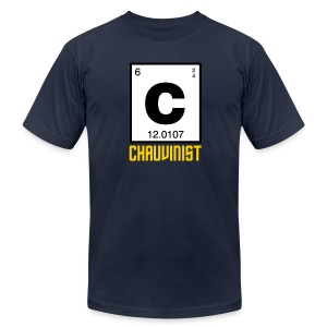 Carbon Chauvinist (Periodic) - Men's T-Shirt by American Apparel