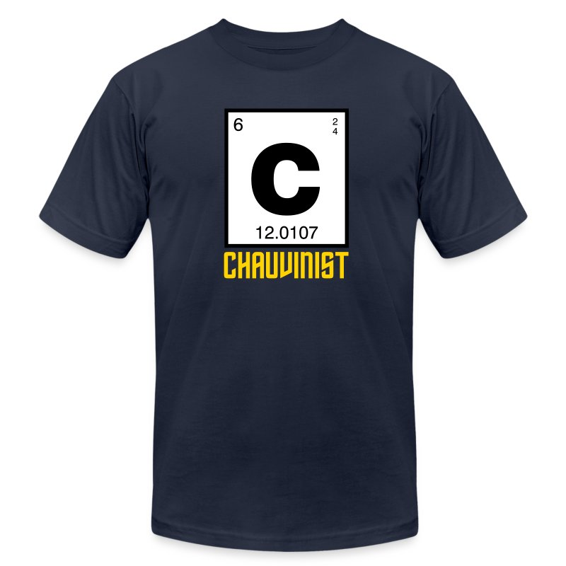 Carbon Chauvinist (Periodic) - Men's Fine Jersey T-Shirt