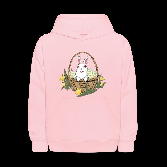 Kid's Easter Hoodie Kid's Easter Shirt Cute Basket Hoodie