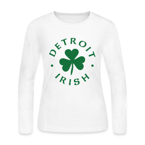 Detroit Irish green - Women's Long Sleeve Jersey T-Shirt