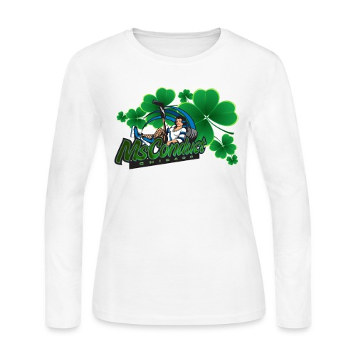 MsConduct St. Patrick's Long Sleeve Ladies T - Women's Long Sleeve Jersey T-Shirt