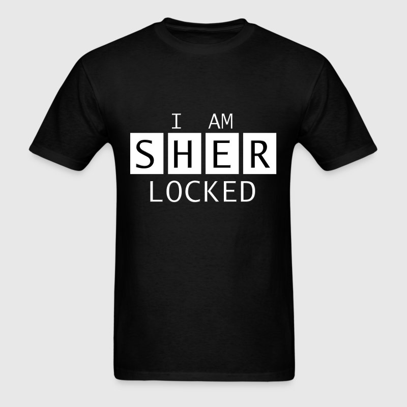 I am Sherlocked - Sherlock Reference T-shirts - Men's T-Shirt