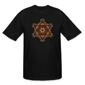 Metatron's Cube - Sacred Geometry Symbol - Men's Tall T-Shirt