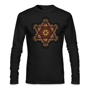 Metatron's Cube - Sacred Geometry Symbol - Men's Long Sleeve T-Shirt by Next Level