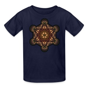 Metatron's Cube - Sacred Geometry Symbol - Kids' T-Shirt