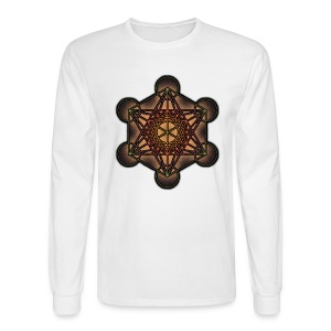 Metatron's Cube - Sacred Geometry Symbol - Men's Long Sleeve T-Shirt