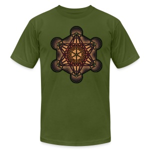 Metatron's Cube - Sacred Geometry Symbol - Men's T-Shirt by American Apparel
