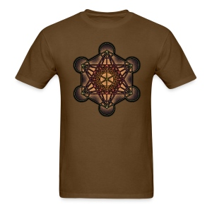 Metatron's Cube - Sacred Geometry Symbol - Men's T-Shirt
