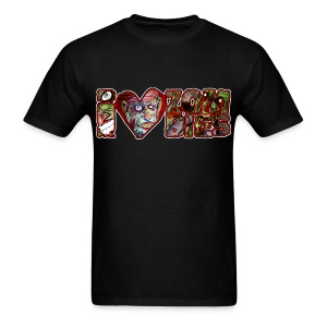 i love zombies horizontal - Men's T-Shirt