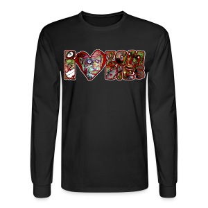 i love zombies horizontal - Men's Long Sleeve T-Shirt