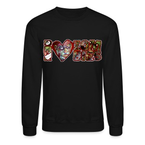 i love zombies horizontal - Crewneck Sweatshirt