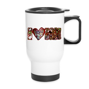extras i love zombies horizontal - Travel Mug