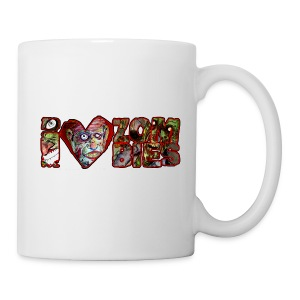 extras i love zombies horizontal - Coffee/Tea Mug