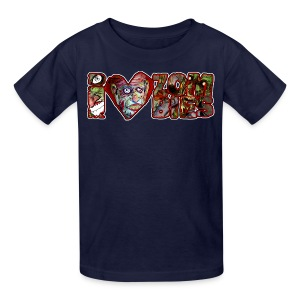 kidss i love zombies horizontal - Kids' T-Shirt