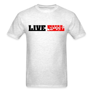 Live Evil Assault (Heather Grey) - Men's T-Shirt