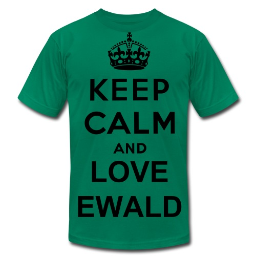 Keep Calm and Love Ewald (Men) - Men's Fine Jersey T-Shirt