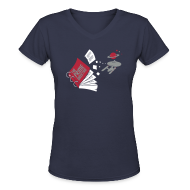Women's T-Shirts ~ Women's V-Neck T-Shirt ~ Screw the Prime Directive!
