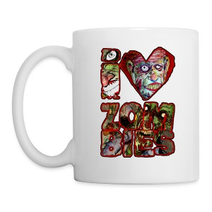 xtras - love zombies square - Coffee/Tea Mug