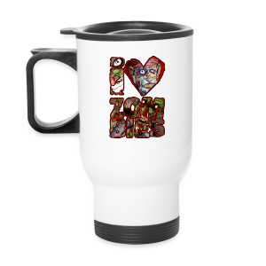 xtras - love zombies square - Travel Mug