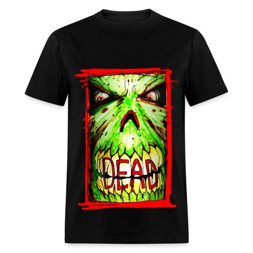 mens - dead zombie face - Men's T-Shirt