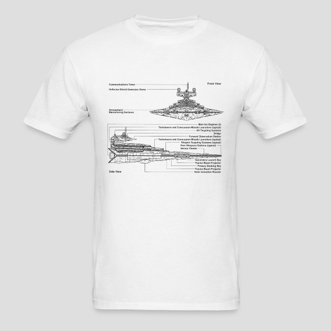 Really Sweet Shirts Star Destroyer Diagram Mens T Shirt