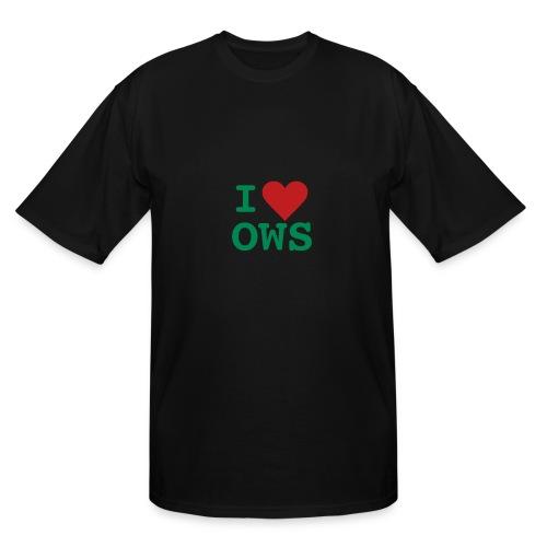 * i heart OWS * (flock.print) [TALL]  - Men's Tall T-Shirt