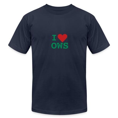 * i heart OWS * (flock.print)  - Men's Fine Jersey T-Shirt