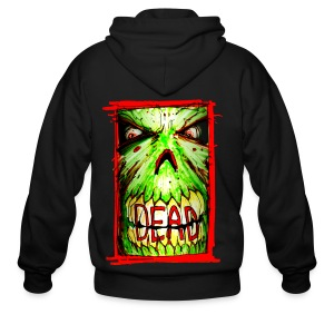 mens - dead zombie face - Men's Zip Hoodie