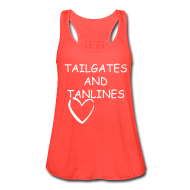 Tanks ~ Women's Flowy Tank Top by Bella ~ tailgates and tanlines tee