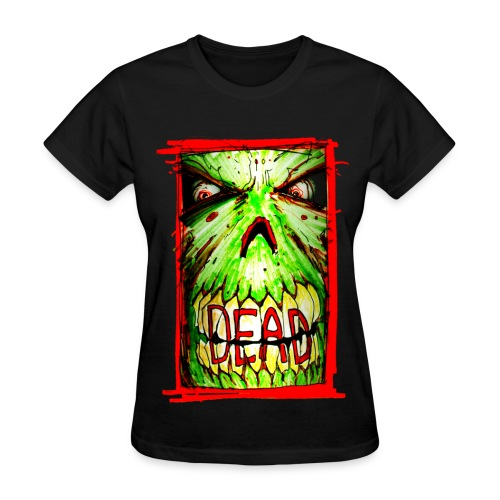 womens - dead zombie face - Women's T-Shirt