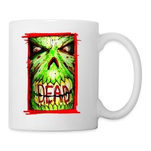 xtras - dead zombie face - Coffee/Tea Mug