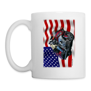 USA Flag Wing Mug Two Sides - Coffee/Tea Mug