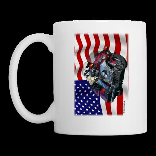 USA Flag Wing Mug Two Sides - Coffee/Tea Mug