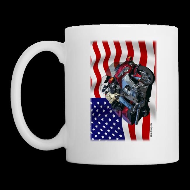 USA Flag Wing Mug Two Sides
