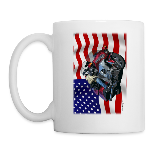 USA Flag Wing Mug One Side