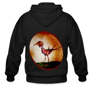 mens - zombie chicken - Men's Zip Hoodie