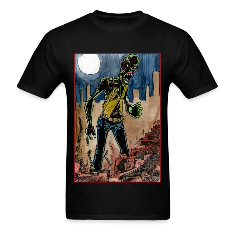 mens - zombie in ruins - Men's T-Shirt