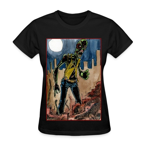 womens - zombie in ruins - Women's T-Shirt