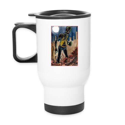 xtras - zombie in ruins - Travel Mug