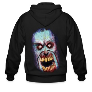 mens - zombie scream - Men's Zip Hoodie