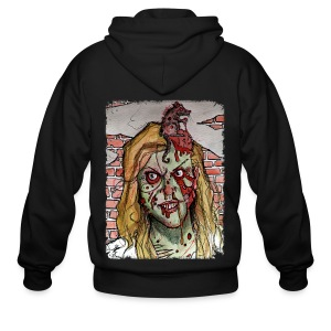 mens - zombie rat head - Men's Zip Hoodie