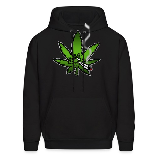Stoned marijuana leaf - Men's Hoodie